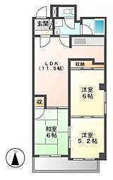 三鈴シティ[3階]の間取り