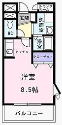 東京都あきる野市秋川3丁目の賃貸マンションの間取り