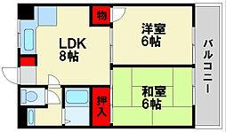 福岡県春日市昇町5丁目の賃貸アパートの間取り