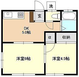 琉久屋荘[2階]の間取り