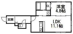北海道札幌市中央区南六条西8の賃貸マンションの間取り