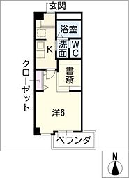 COZY PLACE星ヶ丘[4階]の間取り