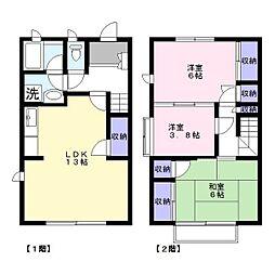 [タウンハウス] 千葉県木更津市永井作2丁目 の賃貸【/】の間取り