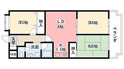 兵庫県西宮市浜甲子園2丁目の賃貸マンションの間取り