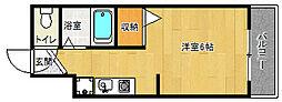 京都府京都市上京区聚楽町の賃貸マンションの間取り