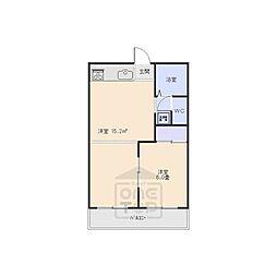 フォーブル横関[1階]の間取り