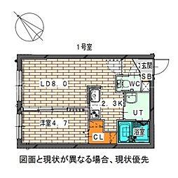 仮)二十四軒1-6MS[4階]の間取り
