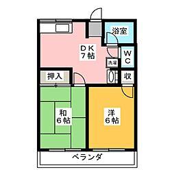 シティハイムエステートC[2階]の間取り