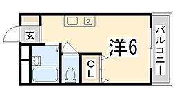 兵庫県姫路市御立北1丁目の賃貸マンションの間取り