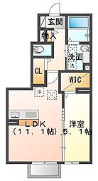 TSUMIKI 1階1LDKの間取り