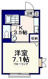 Allot富士見[2階]の間取り