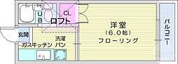 仙台市地下鉄東西線 八木山動物公園駅 徒歩4分の賃貸アパート 1階1Kの間取り