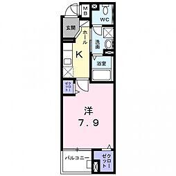 ツインテール[2階]の間取り