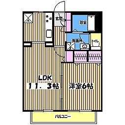東京都西東京市新町6丁目の賃貸アパートの間取り