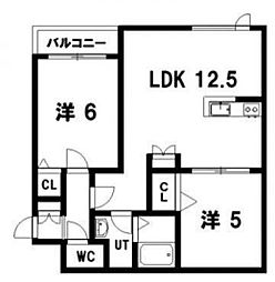 Landschaft(ランドシャフト)33[101号室]の間取り