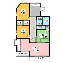 ソフィア覚王山[3階]の間取り