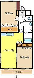 愛知県名古屋市南区南野3丁目の賃貸マンションの間取り
