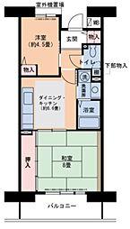 兵庫県明石市宮の上の賃貸マンションの間取り