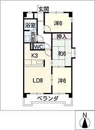 M&Mマンション[3階]の間取り