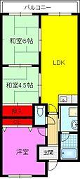エスポワール21[1階]の間取り