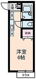 東京都豊島区西巣鴨1の賃貸アパートの間取り