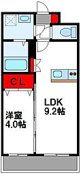 LE GRAND BLEU HAKATA 6階1LDKの間取り