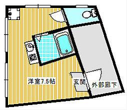 トラストマンション[2F号室]の間取り