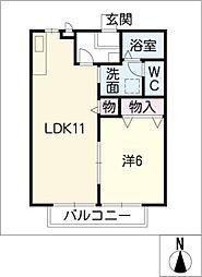 クレストII[1階]の間取り