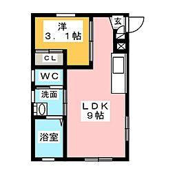 Ceres岩塚駅前 B[3階]の間取り