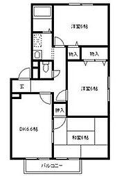 カーササンノウ -CASASANNO-[2階]の間取り