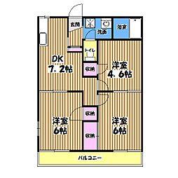 ディアコートD棟[2階]の間取り