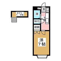 グリーンリーフII[2階]の間取り
