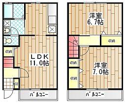 [タウンハウス] 神奈川県厚木市戸田 の賃貸【神奈川県 / 厚木市】の間取り