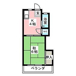 コーポ黒沢台2[2階]の間取り