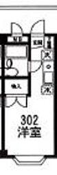 東京都東大和市新堀1丁目の賃貸マンションの間取り