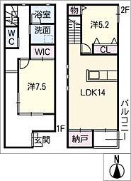 [タウンハウス] 愛知県半田市星崎町2丁目 の賃貸【/】の間取り