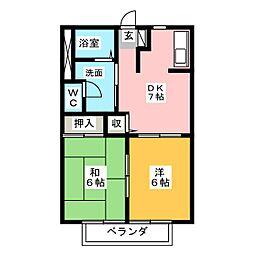 ドゥージェームYAMA[2階]の間取り