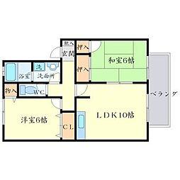 モンテビュー[2階]の間取り