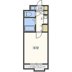 プレサンス梅田西[3階]の間取り