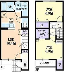 [テラスハウス] 茨城県筑西市茂田 の賃貸【/】の間取り