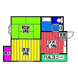 福岡県福岡市博多区竹下4丁目の賃貸マンションの間取り