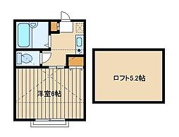 東京都練馬区富士見台2丁目の賃貸アパートの間取り