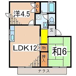 メゾンKUNIHARA A[101号室号室]の間取り