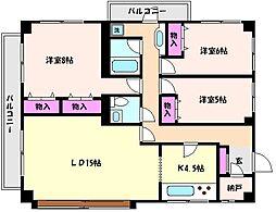 兵庫県神戸市東灘区魚崎北町6丁目の賃貸マンションの間取り