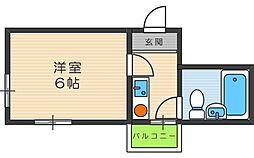 エムロード駒川[5階]の間取り
