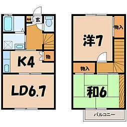 [テラスハウス] 埼玉県東松山市日吉町 の賃貸【/】の間取り