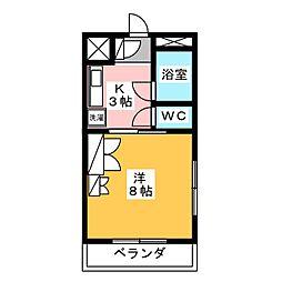 モンフォール矢野[1階]の間取り