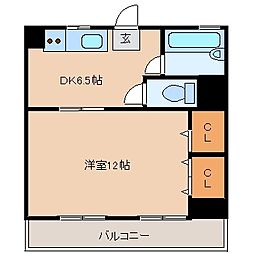 松戸パレス[903号室]の間取り