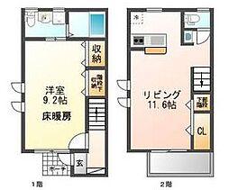 [テラスハウス] 東京都武蔵野市西久保2丁目 の賃貸【/】の間取り
