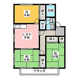 ルミエールメゾン125[2階]の間取り
